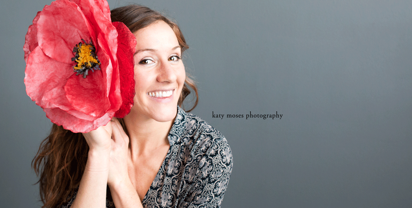 Heather in-studio big red flower
