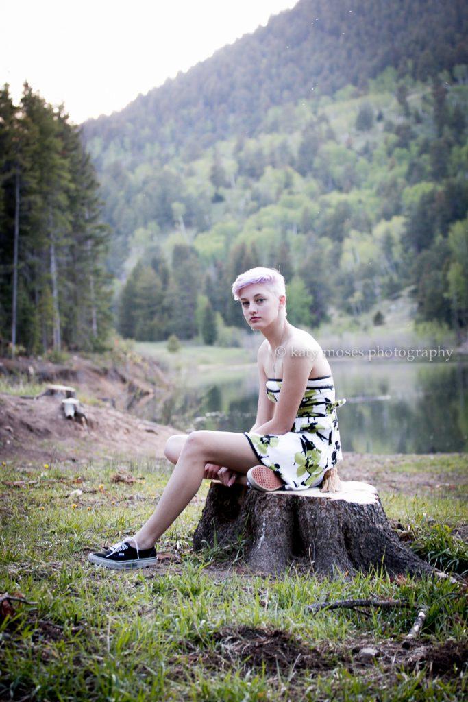 high school portrait session lake colorado
